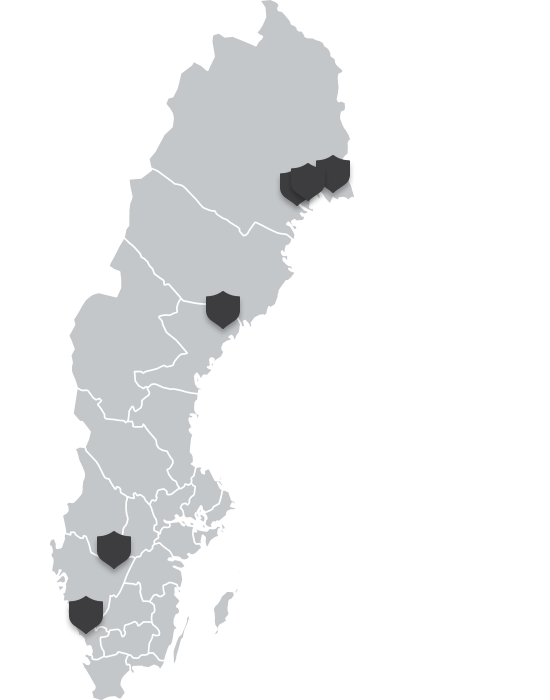 Karta med föreningar som är med i Idrottsauktionen